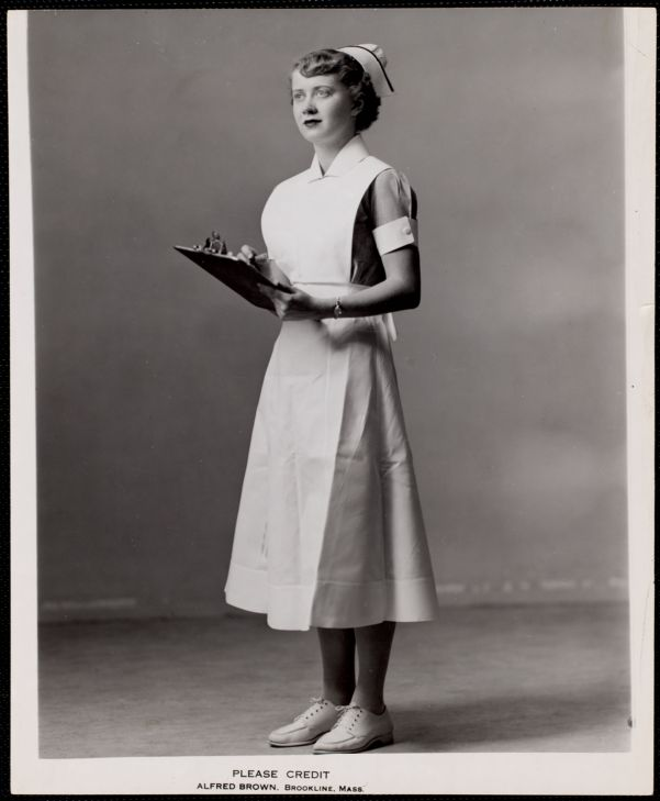 Faulkner Hospital nurse holding clipboard