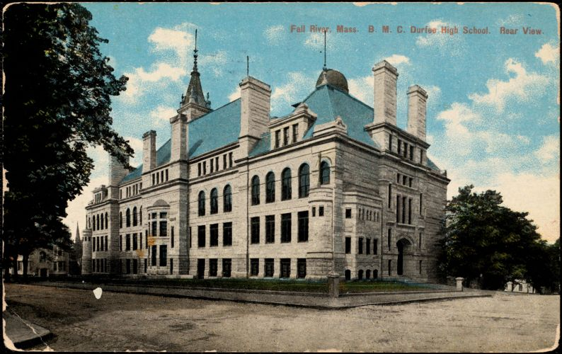 Fall River, Mass. B.M.C. Durfee High School. Rear view