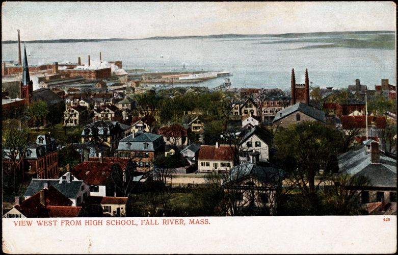 View west from high school, Fall River, Mass.