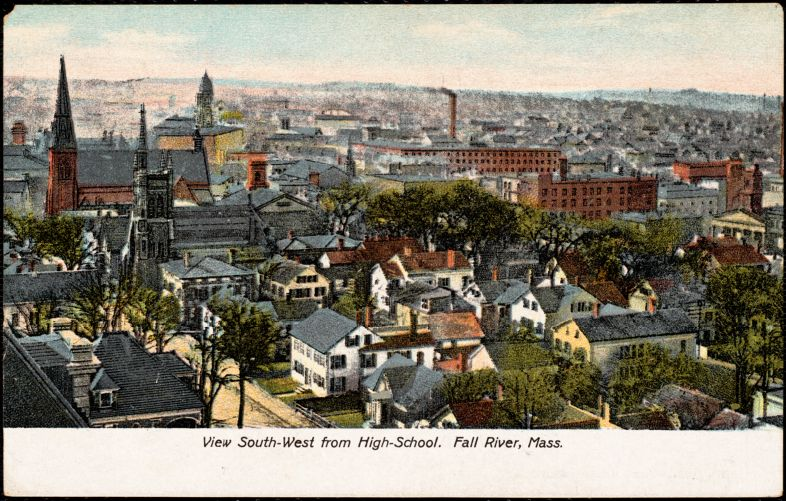 View south-west from high school. Fall River, Mass.