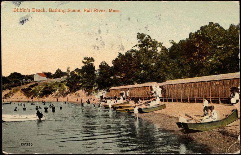 Bliffin's Beach, bathing scene, Fall River, Mass.