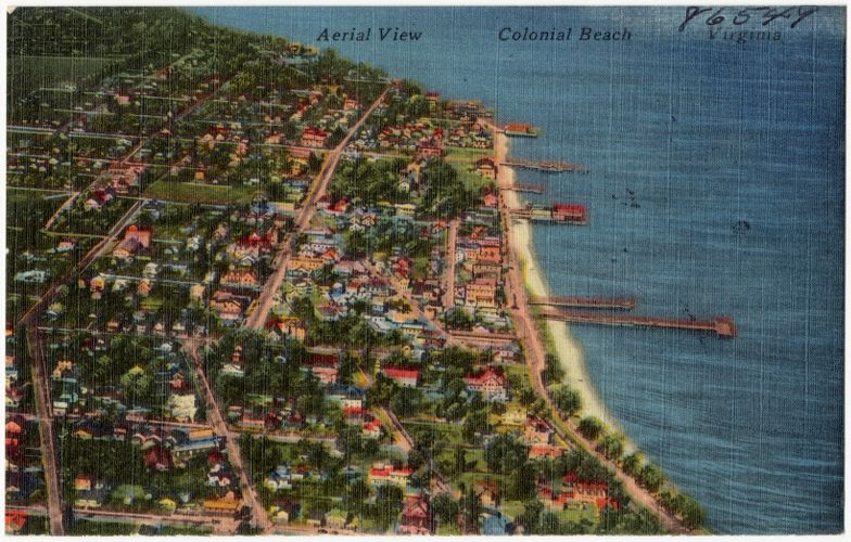 Aerial view of Colonial Beach, Virginia