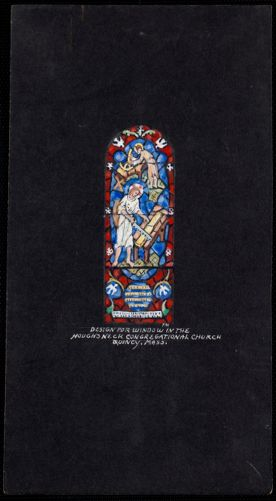 Design for window in the Hough's Neck Congregational Church, Quincy, Mass.