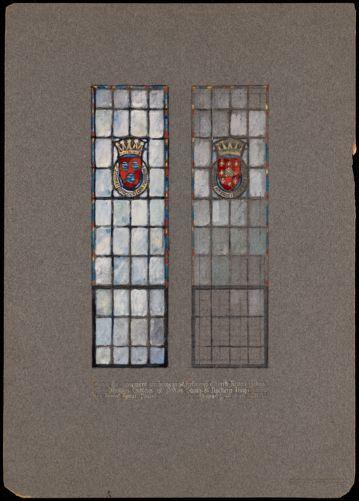 Basement windows in St. Andrew's Church, Revere, Mass.