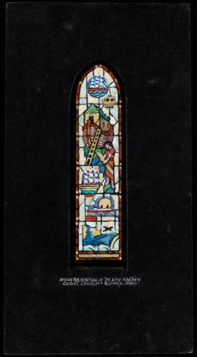 Design for window in the new narthex, Christ Church, Quincy, Mass.