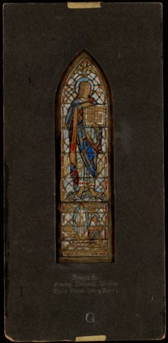 Design for Crowley memorial window, Christ Church, Quincy, Mass.