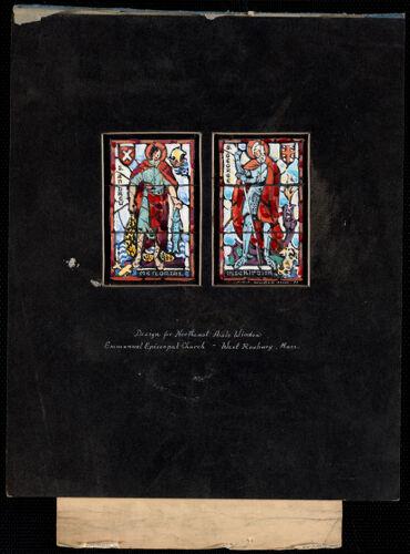 Design for northeast aisle window, Emmanuel Episcopal Church, West Roxbury, Mass.