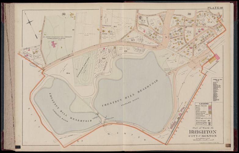 Atlas of Dorchester, West Roxbury and Brighton, city of Boston