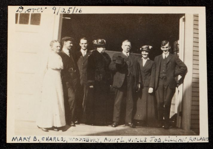 Dover, 9/25/1916. Mary B., Charles, Woodbury, Aunt L., Uncle Joe, Lillian, Roland