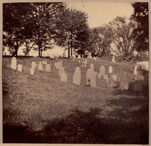 Framingham, first burying ground about 1700.