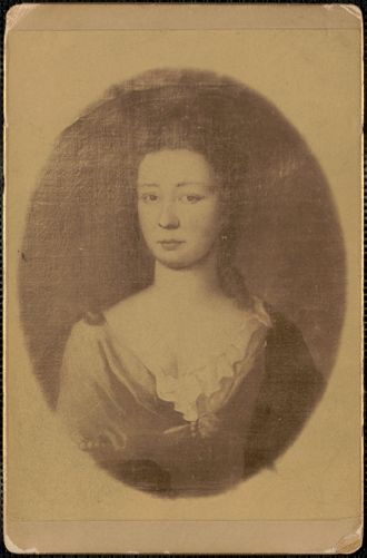 Mrs. Dummer, wife of Governor Dummer