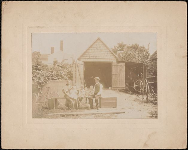 Andrew P. Lewis & his family, 6 Carter St. Newburyport, c. 1896