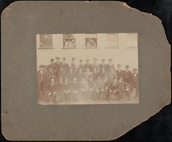 Group, Wm. Jaques, 4th from left, front row