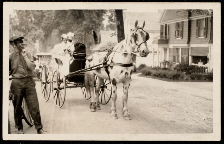 1921 4th of July Parade: Miss Kate Cary, driver of carriage