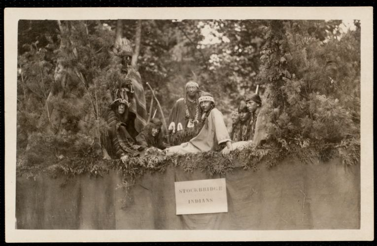 1921 4th of July Parade: Stockbridge Indians float