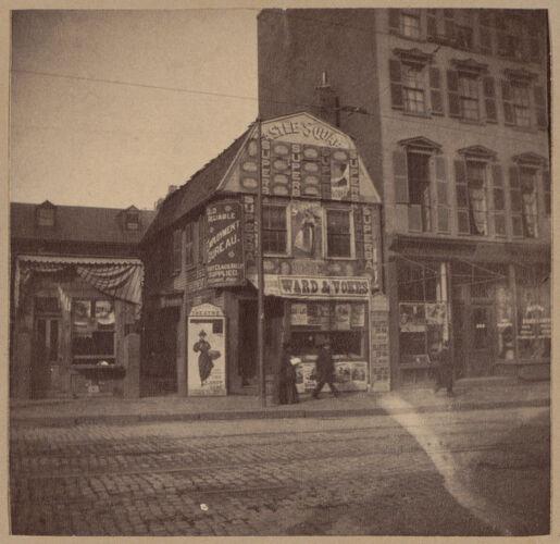 Boston, old house, Tremont St., opposite Hollis.