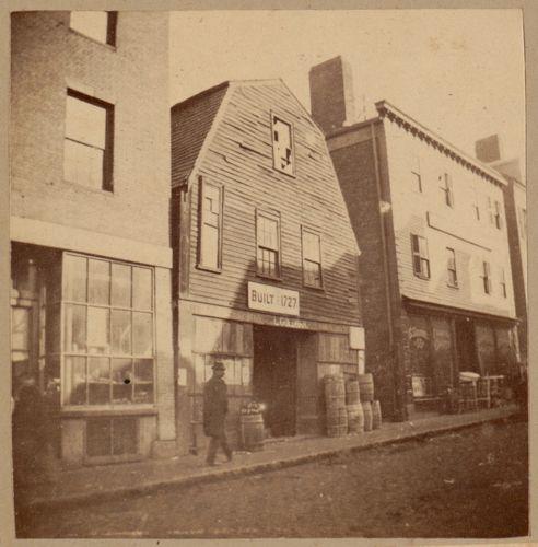 Boston, Thoreau house, Prince St., 1727