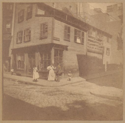 Boston, Tileston house, corner Prince + Margaret Sts.