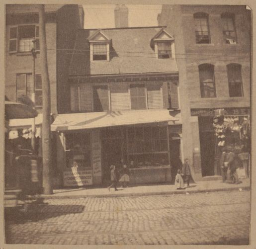 Boston, Cotton Mather House, Hanover St., 1677.
