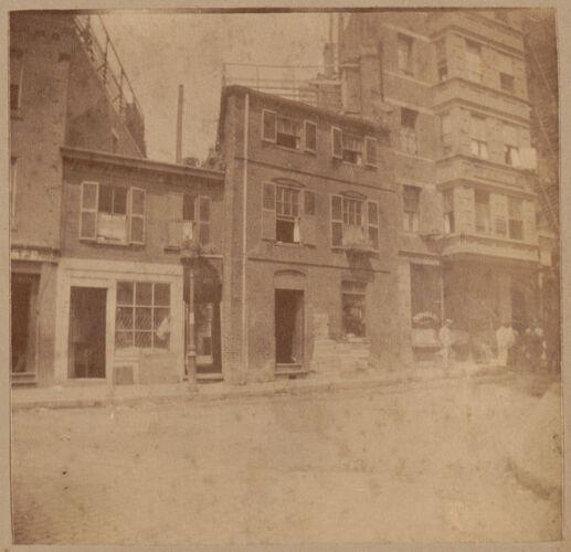 Boston, Hitchbone house, North Square, 1711.