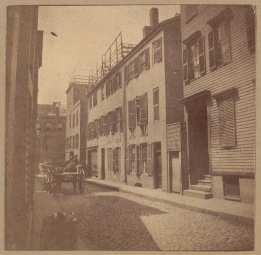 Boston, Franklin house, Unity Street.