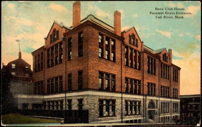 Boys' Club House, Pocasset Street entrance, Fall River, Mass.