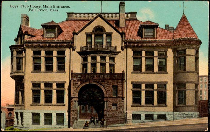 Boys' Club House, main entrance, Fall River, Mass.
