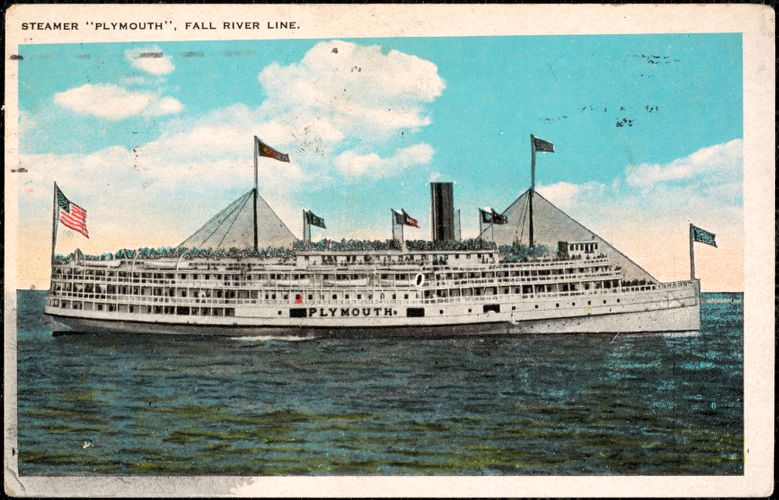 """Steamer """"Plymouth"""", Fall River Line"""