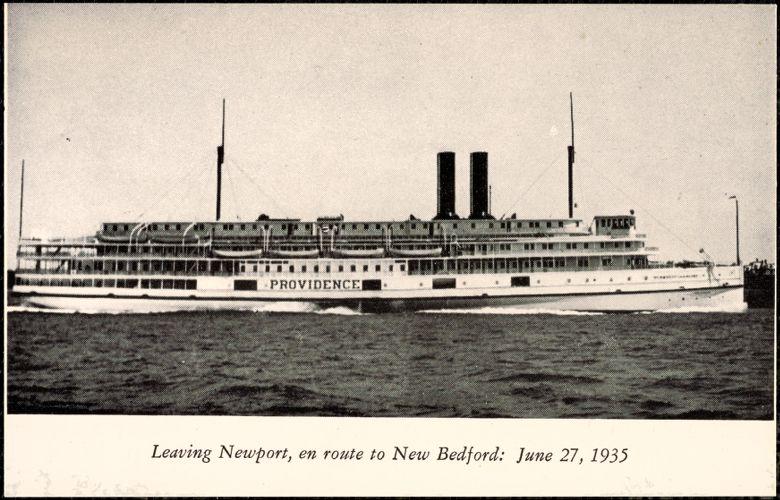 Leaving Newport en route to New Bedford: June 27, 1935