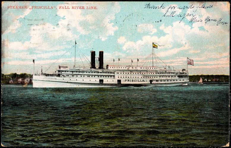 """Steamer """"Priscilla"""", Fall River Line"""