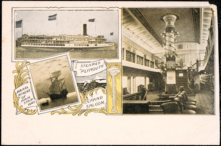 Steamer Plymouth, grand saloon
