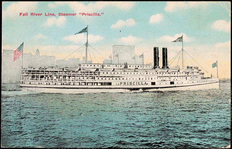 """Fall River Line, Steamer """"Priscilla"""""""