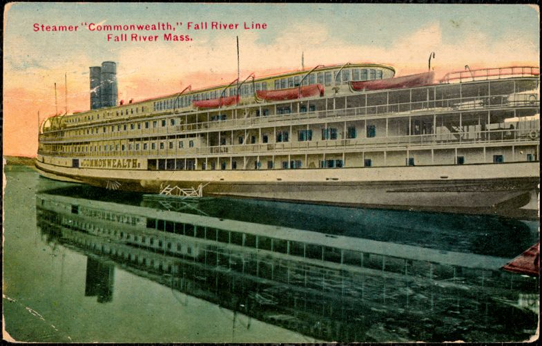 Steamer Commonwealth, Fall River Line, Fall River Mass.