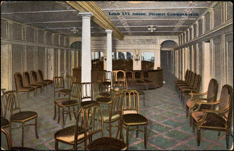 Louis XVI saloon, Steamer Commonwealth