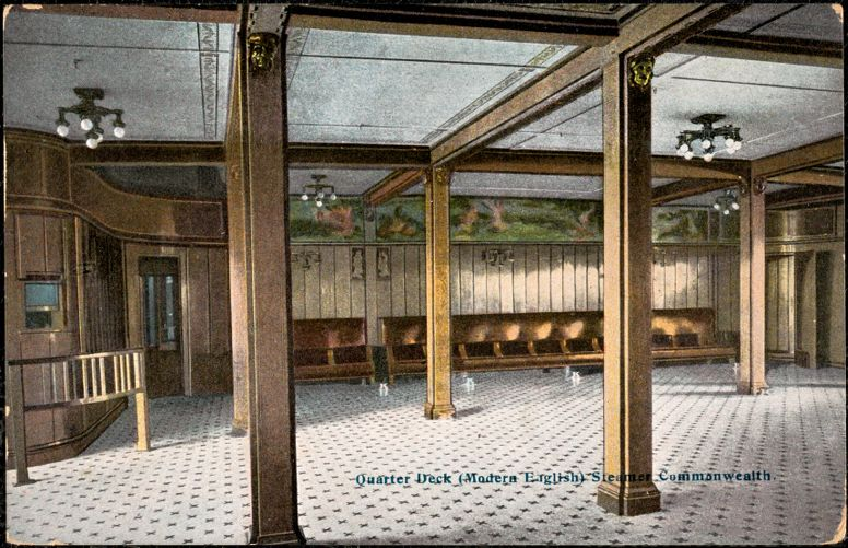 Quarter deck (modern English) Steamer Commonwealth
