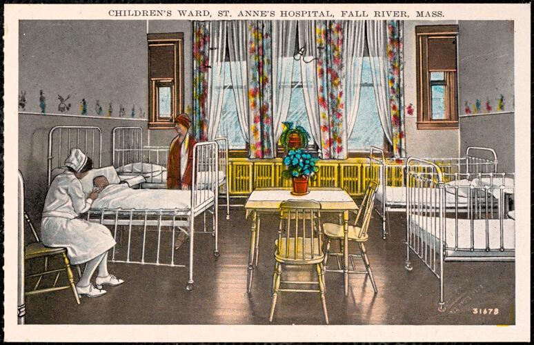 Children's ward, St. Anne's Hospital, Fall River, Mass.