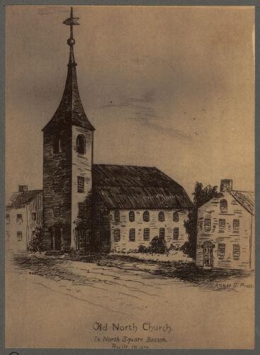 Old North Church in North Square, Boston