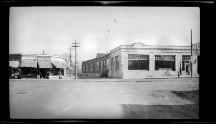 Washington & Mill Sts. 1929. 4/23/1929