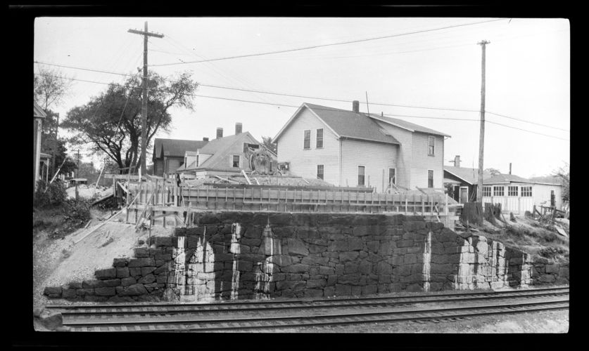 Abutment of School Street bridge (1931)
