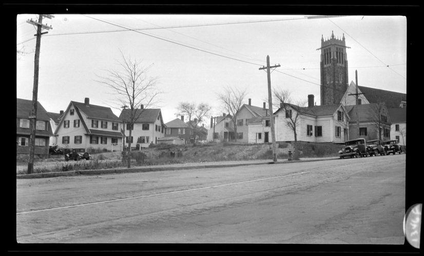 Westerly corner of Coddington & Newcomb Sts. 1931