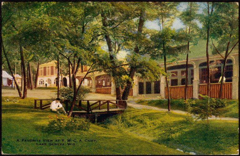 A favorite view at Y.M.C.A. camp, Lake Geneva, Wis.