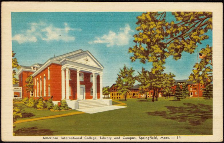 American International College, library and campus, Springfield, Mass. - 14