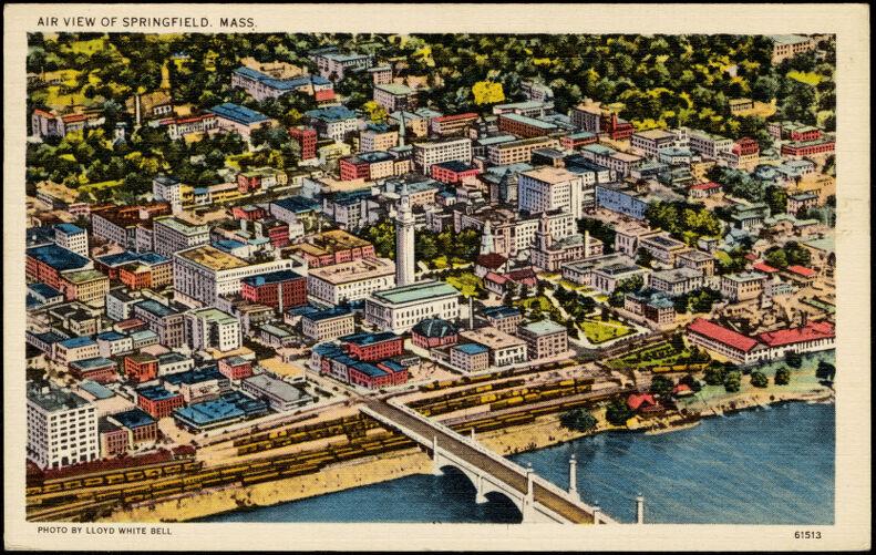Air view of Springfield, Mass.