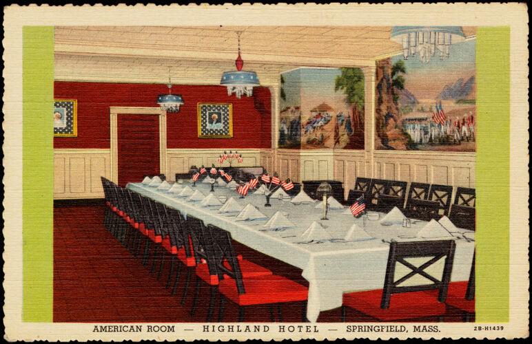 American room - Highland Hotel - Springfield, Mass.