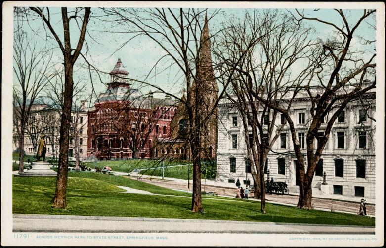 Across Merrick Park to State Street, Springfield, Mass.