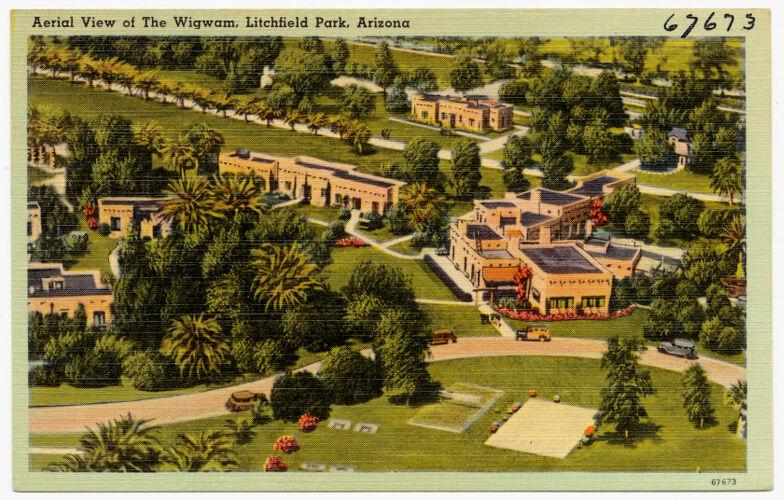 Aerial view of The Wigwam, Litchfield Park, Arizona