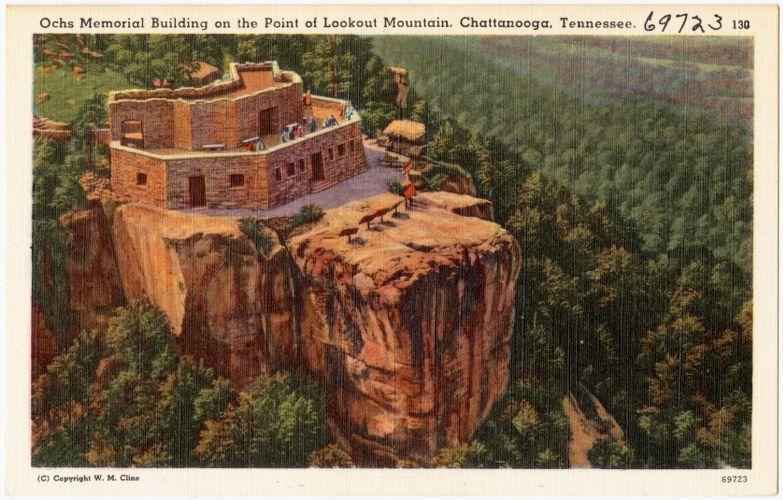 Ochs Memorial Building on the point of Lookout Mountain, Chattanooga, Tennessee.