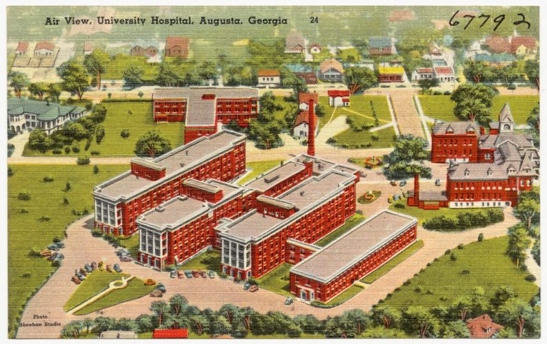 Air view, University Hospital, Augusta, Georgia