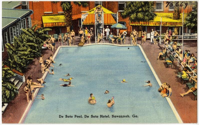 De Soto Pool, De Soto Hotel, Savannah, Ga.