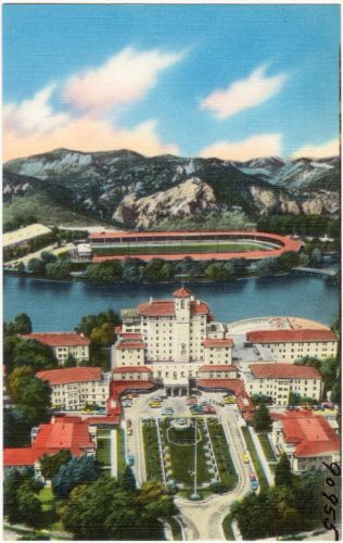 The Broadmoor Hotel and surroundings, Colorado Springs, Colorado
